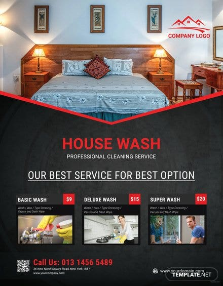 Free Simple House Cleaning Service Flyer Template Free Templates