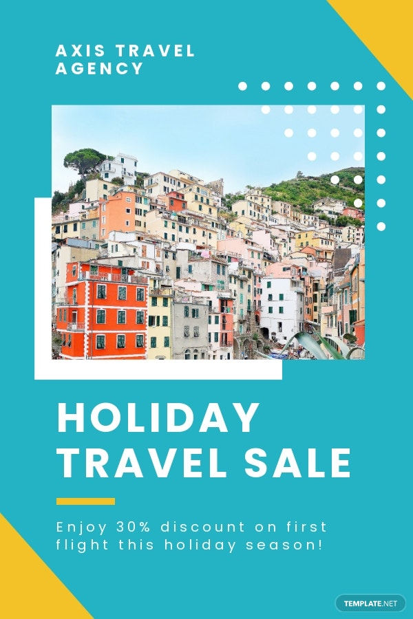 Holiday Travel Pinterest Pin Template