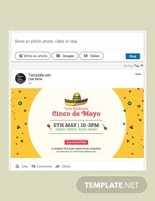 Free Cinco de Mayo Day LinkedIn Blog Post Template