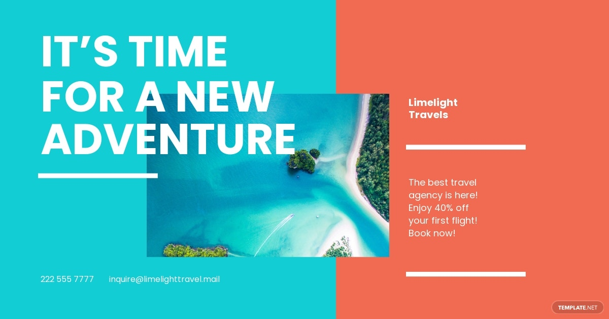 Travel Business Facebook Post Template