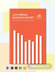 Free Annual Report Book Cover Template