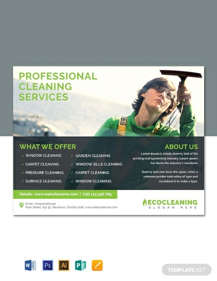 Free Commercial Cleaning Service Flyer Template