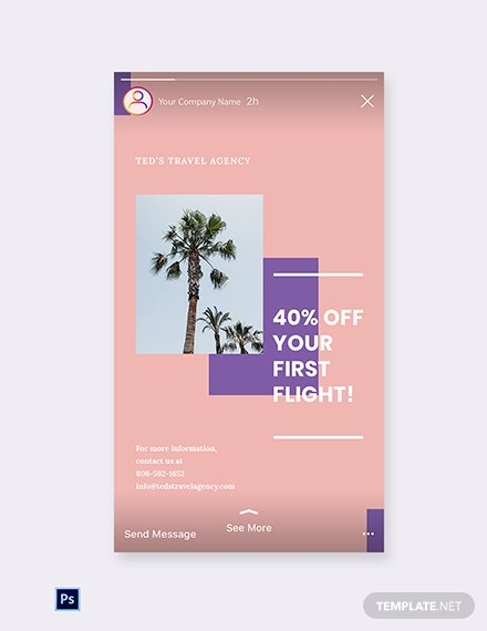 Free Travel Business Instagram Story Template