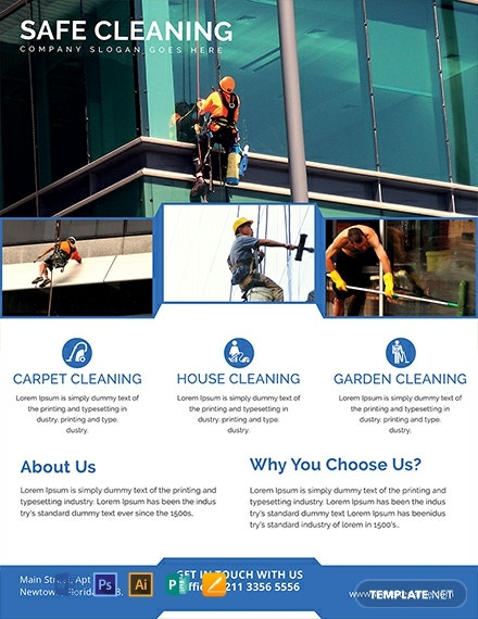 photograph regarding Free Printable House Cleaning Flyers identified as 10+ No cost Cleansing Flyer Templates - Phrase PSD InDesign