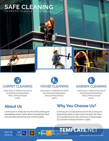 Printable Cleaning Services Flyer Template