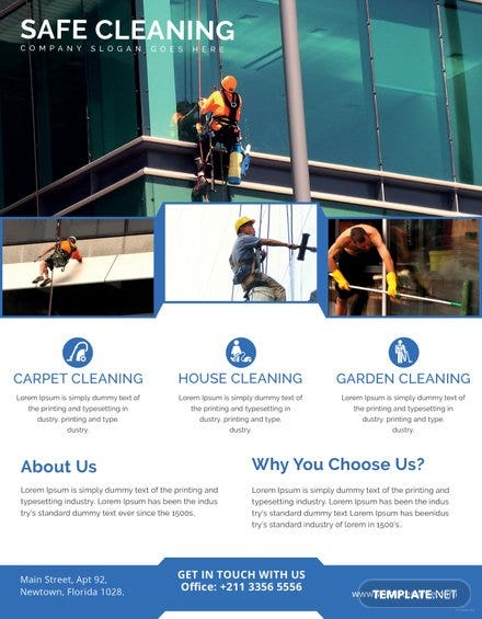 Free Cleaning Company Flyer Template Free Templates