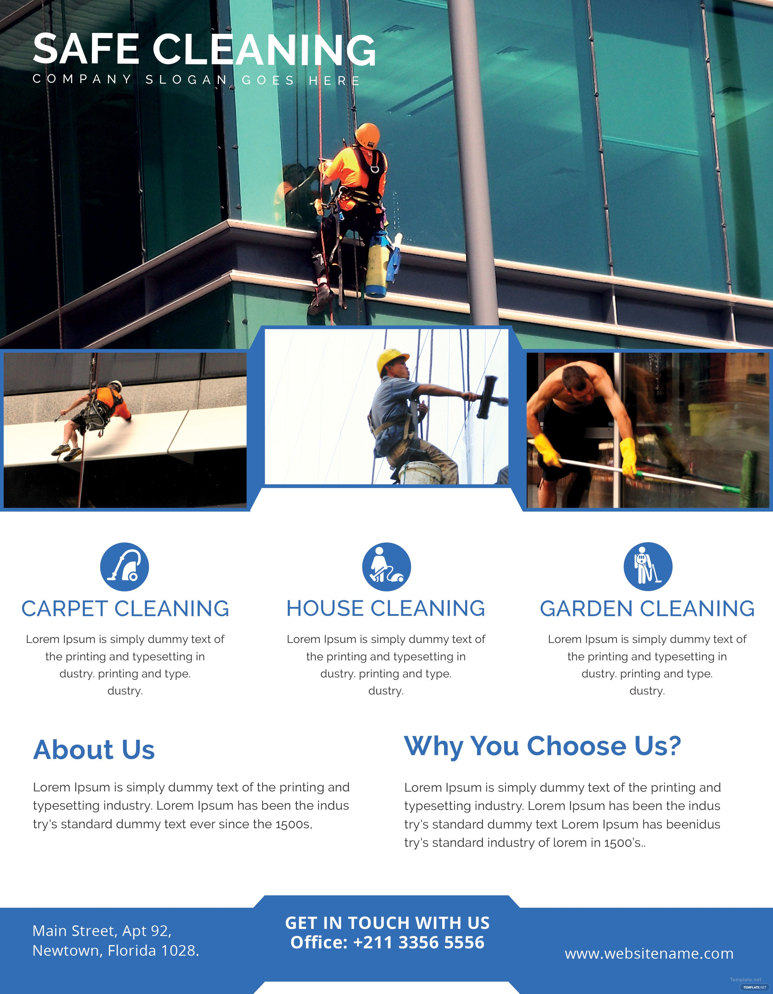 free printable cleaning services flyer template in adobe