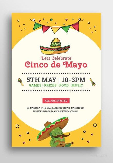 Free Cinco de Mayo Day Pinterest Pin Template