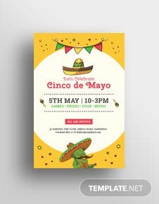 Free Cinco de Mayo Day Pinterest Pin Template