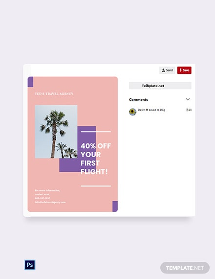 Free Travel Business Pinterest Pin Template