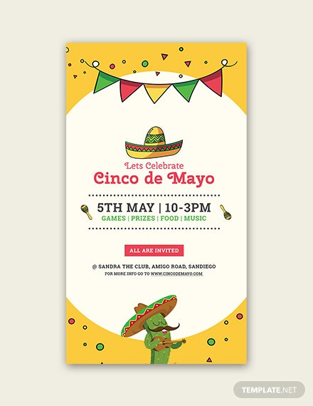 Free Cinco de Mayo Snapchat Geofilter Template