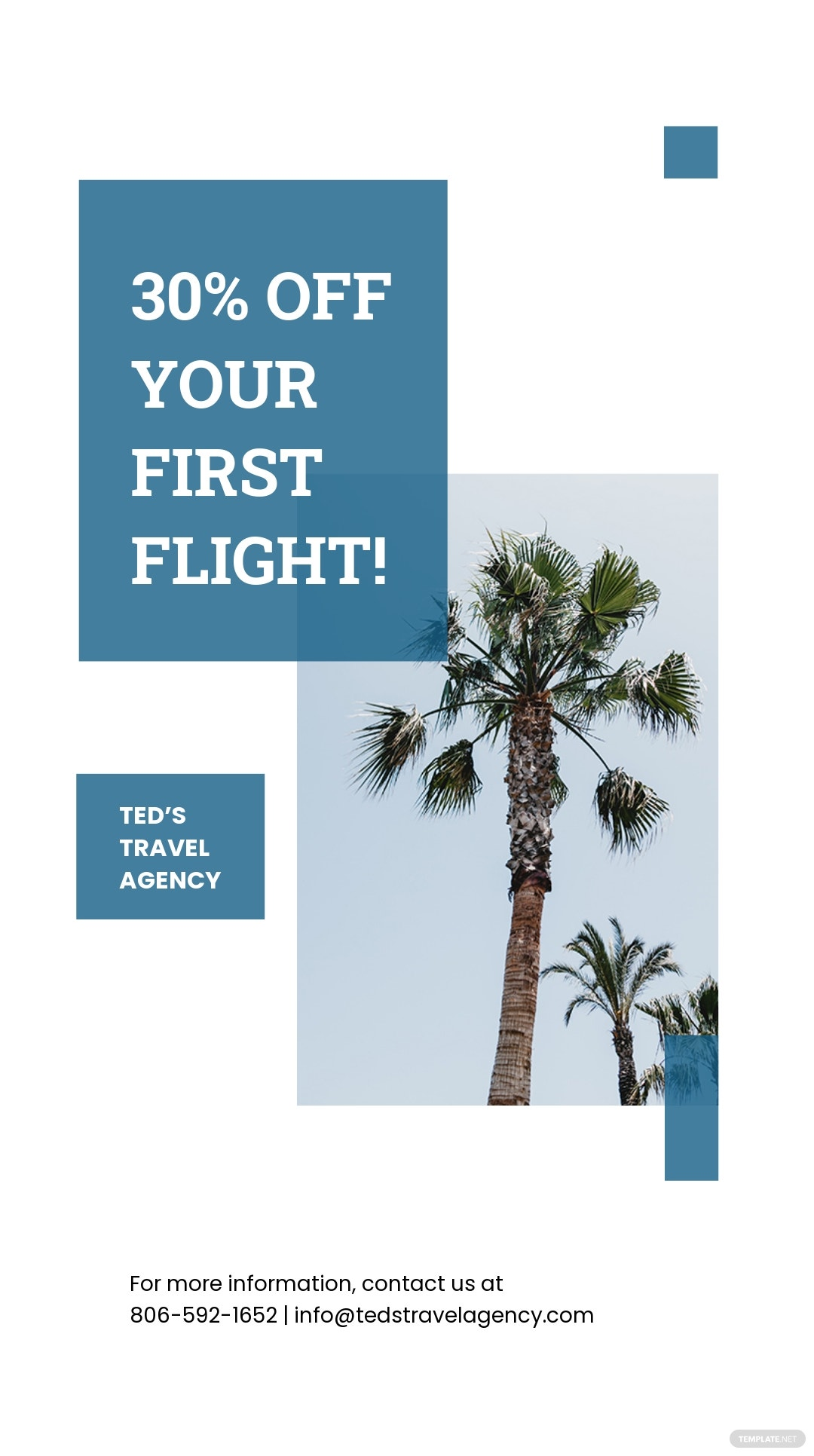 Free Travel Company Instagram Story Template