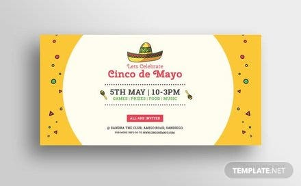 Free Cinco de Mayo Day Twitter Post Template