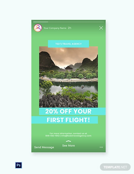 Free Vacation Travel Instagram Story Template