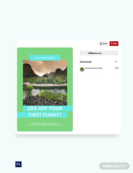 Free Vacation Travel Pinterest Pin Template
