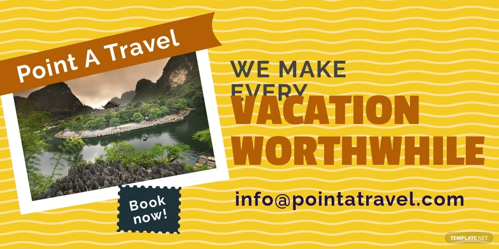 Free Vacation Travel Twitter Post Template