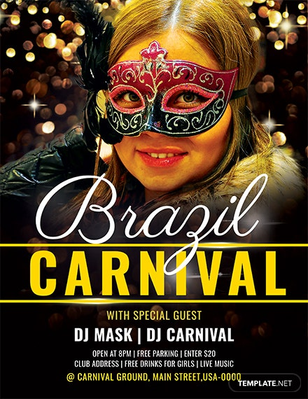 free brazil carnival flyer template download 416 flyers in psd