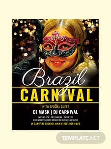 Free Brazil Carnival Flyer Template