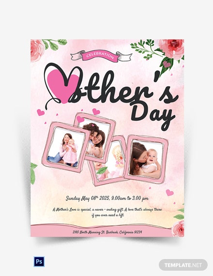 Customizable Mother's Day Flyer Template