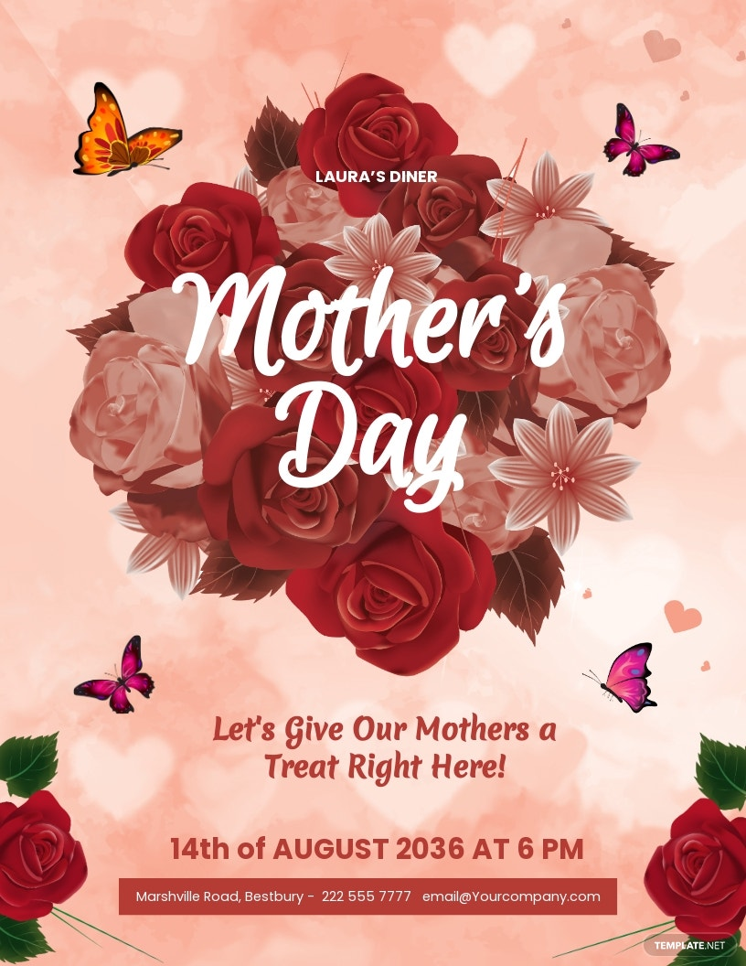 Editable Mother's Day Flyer Template