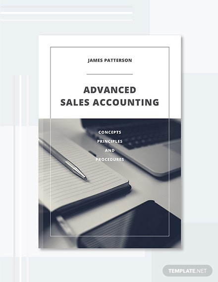 Free Accounting Book Cover Template