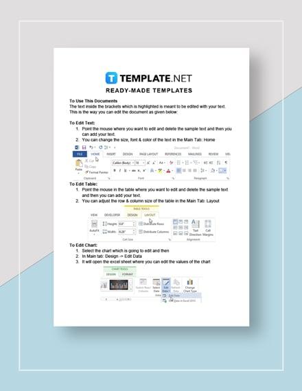 Restaurant Opening Checklist Form Instructions