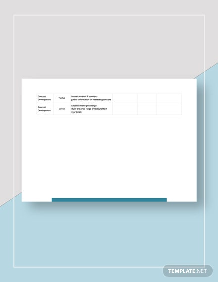 Restaurant Opening Checklist Form Template