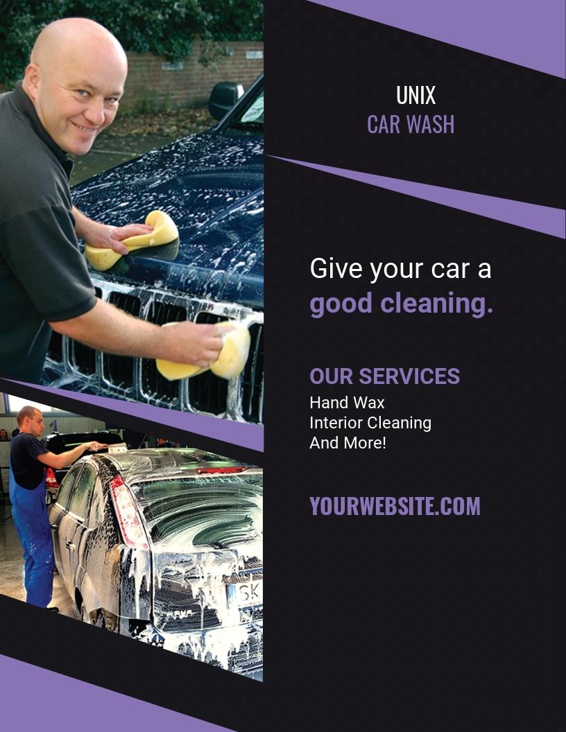 Car Wash Agency Flyer Template.jpe