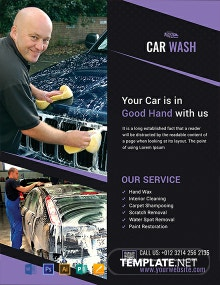 Free Car Wash Agency Flyer Template