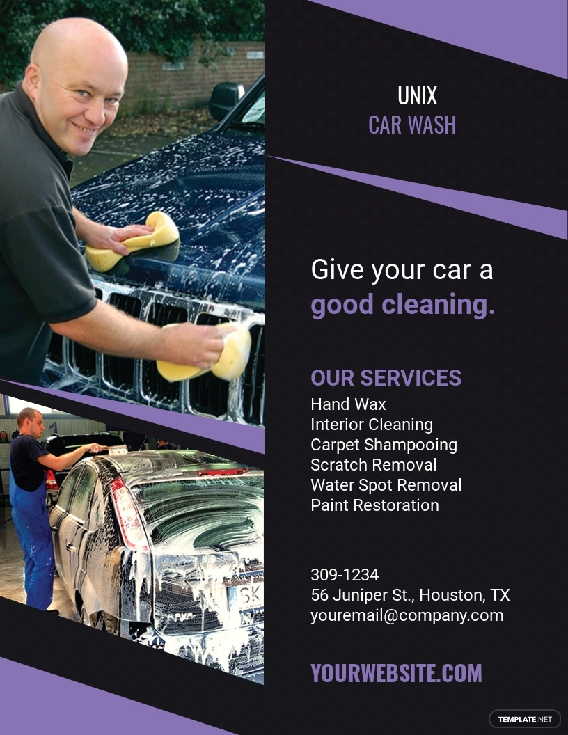 Car Wash Agency Flyer Template