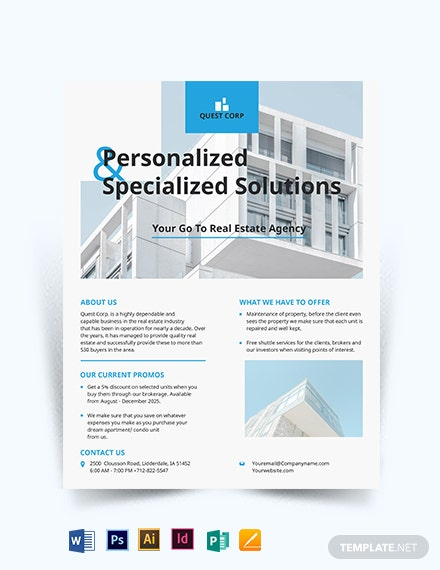 Apartment/ Condo Broker Flyer Template