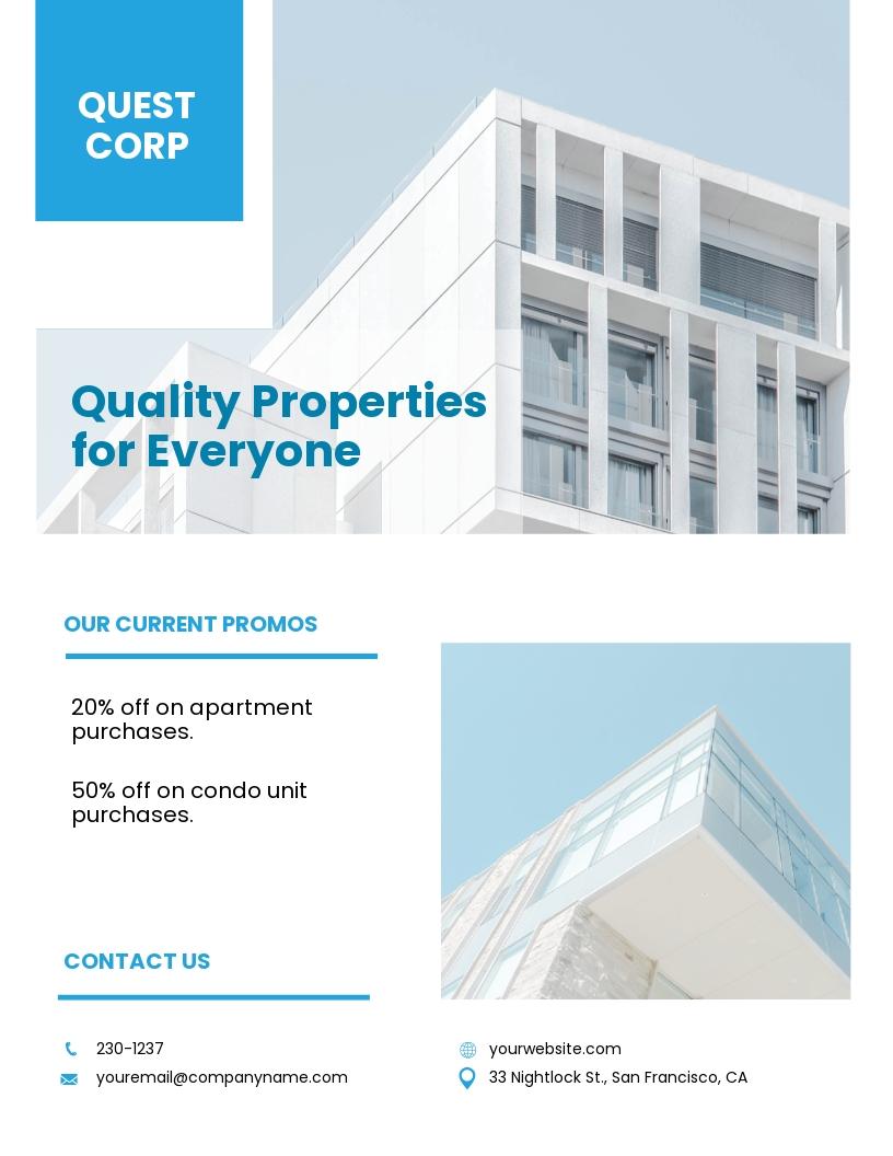 Apartment/ Condo Broker Flyer Template