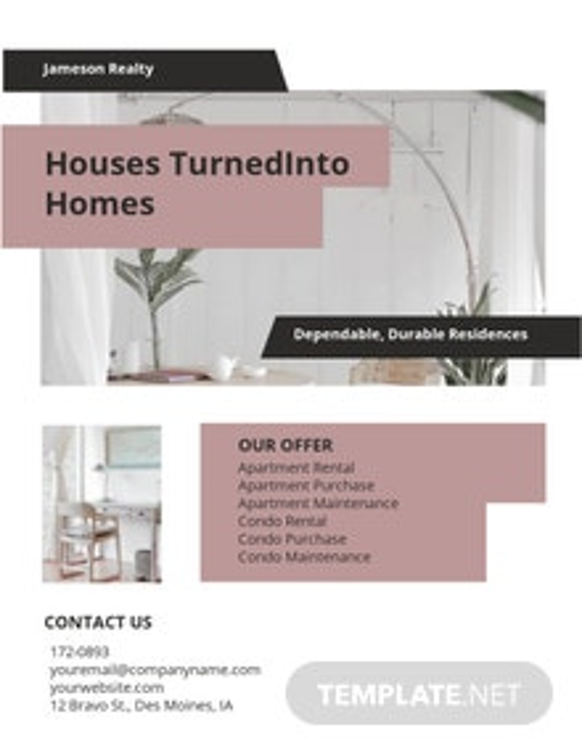 Apartment/ Condo Community Flyer Template