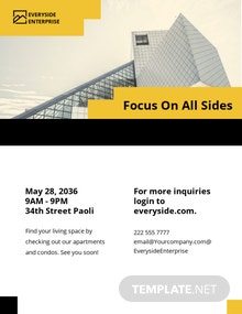 Apartment Condo Property Management Flyer Template