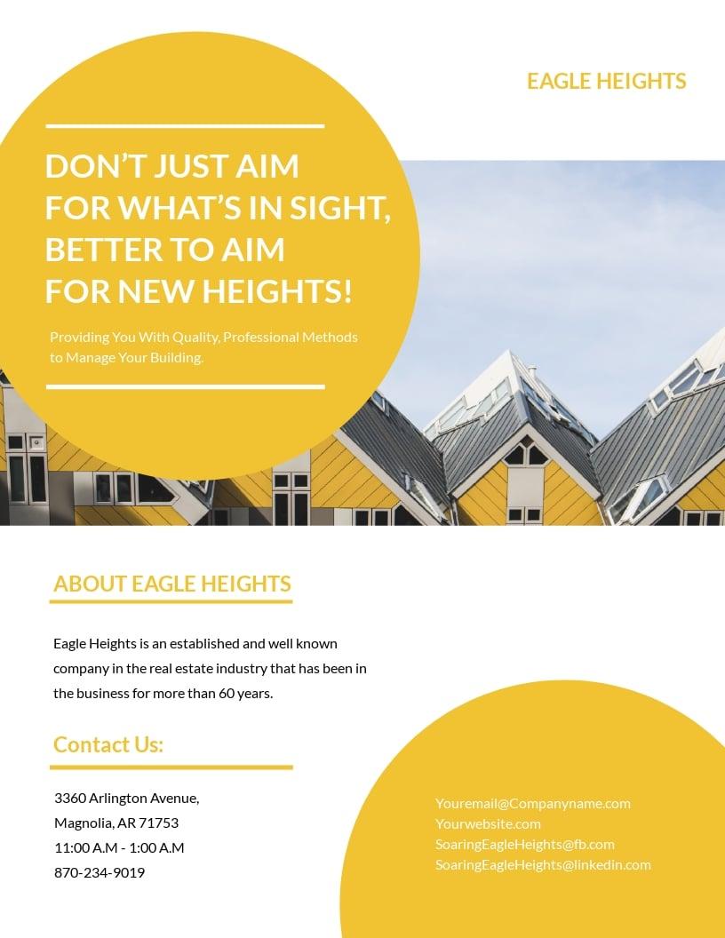 Building Management Flyer Template