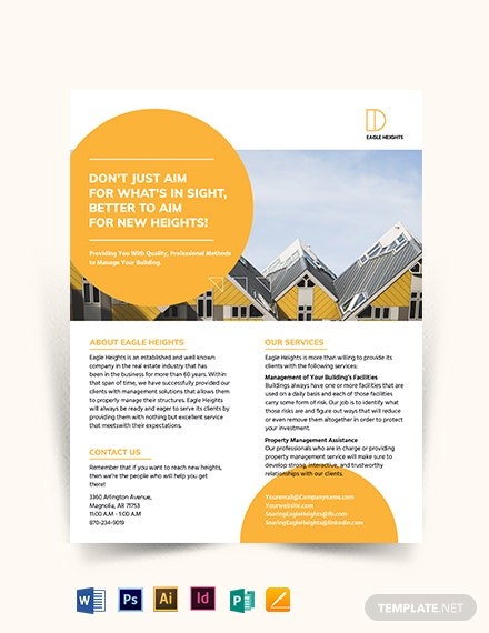 Building Management Flyer Template