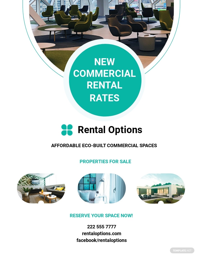 Commercial Rental Flyer Template