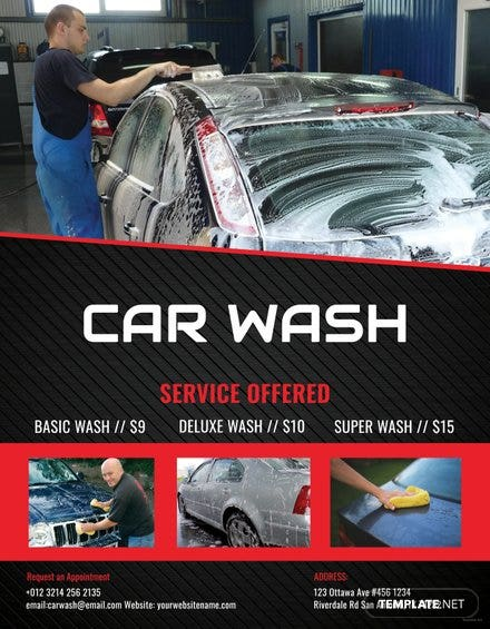 Free Car Wash Flyer Template In Adobe Photoshop Illustrator