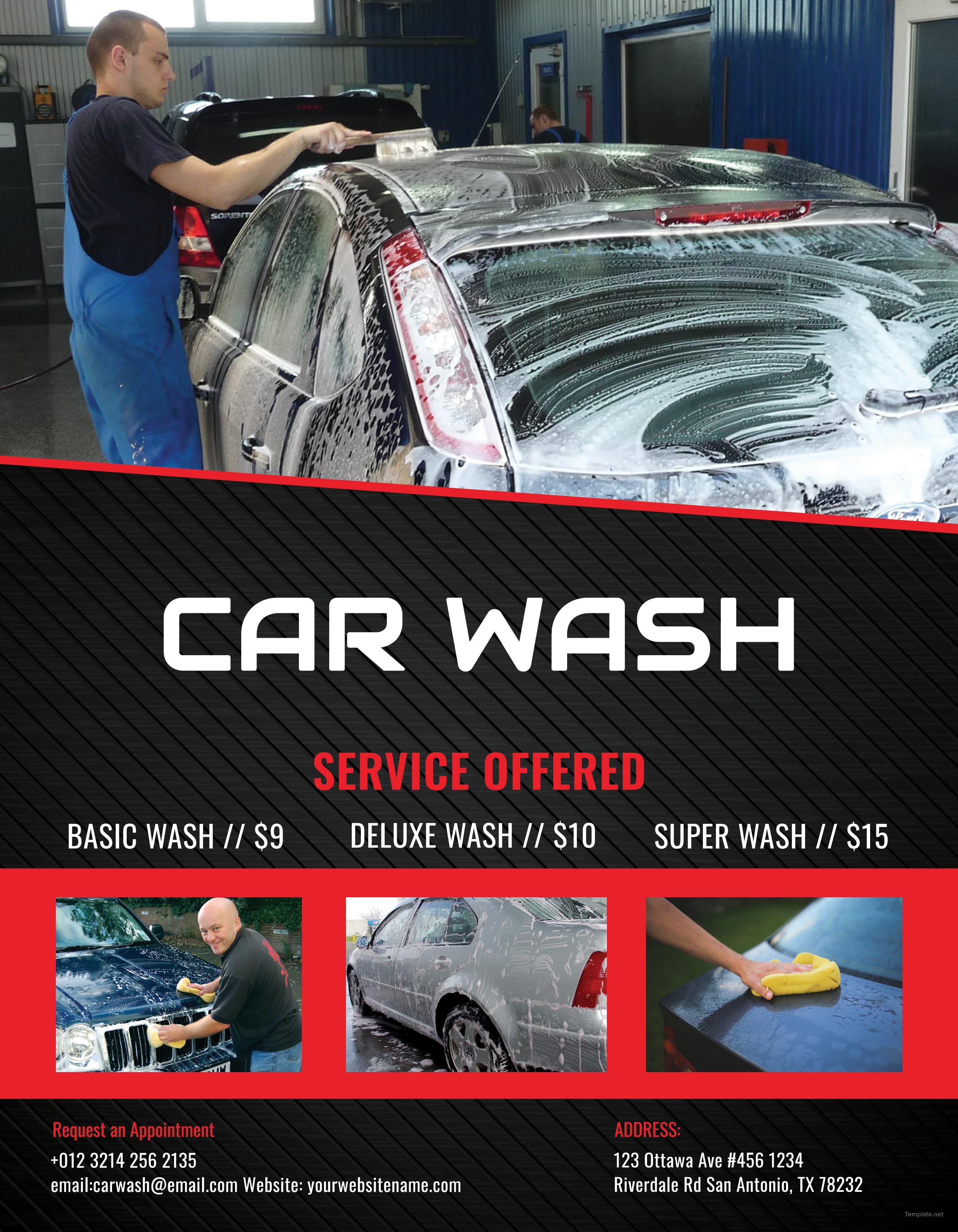 car wash template microsoft word