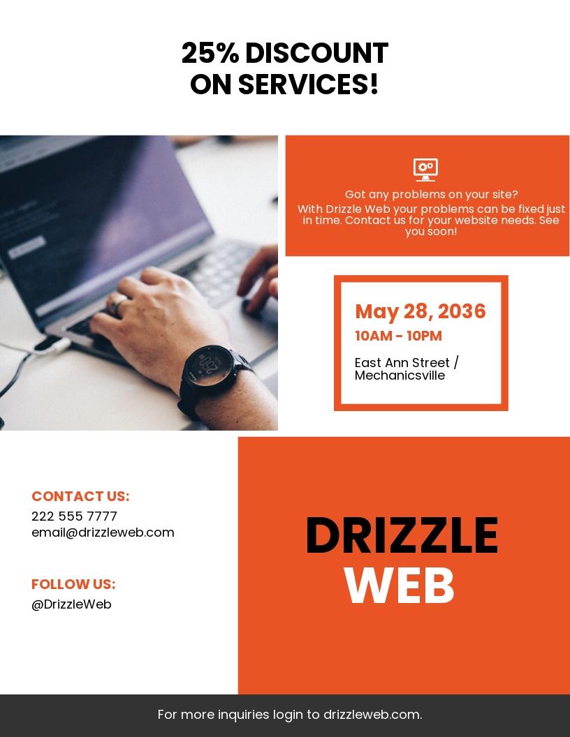 Flat Web Agency Flyer Template