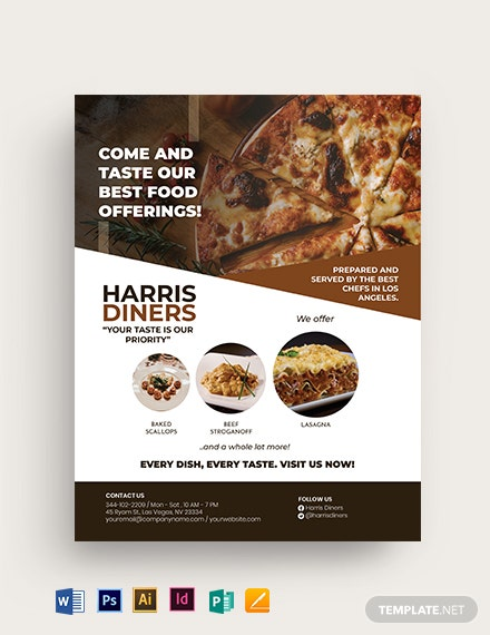 Food Menu Restaurant Flyer Template