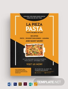 Food Promotion Discount Flyer Template
