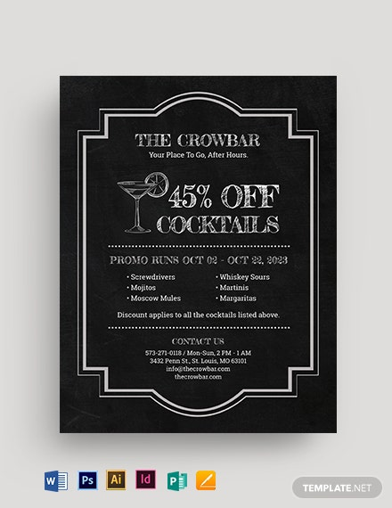 Framed Happy Hour Flyer Template