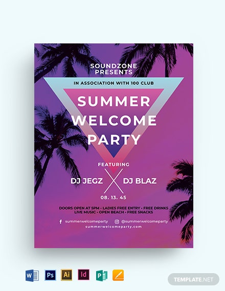 Fresh Summer Events Flyer Template
