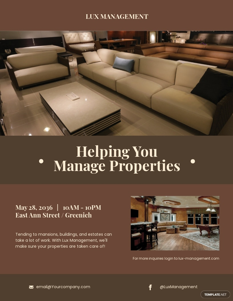 Luxury Property Management Flyer Template