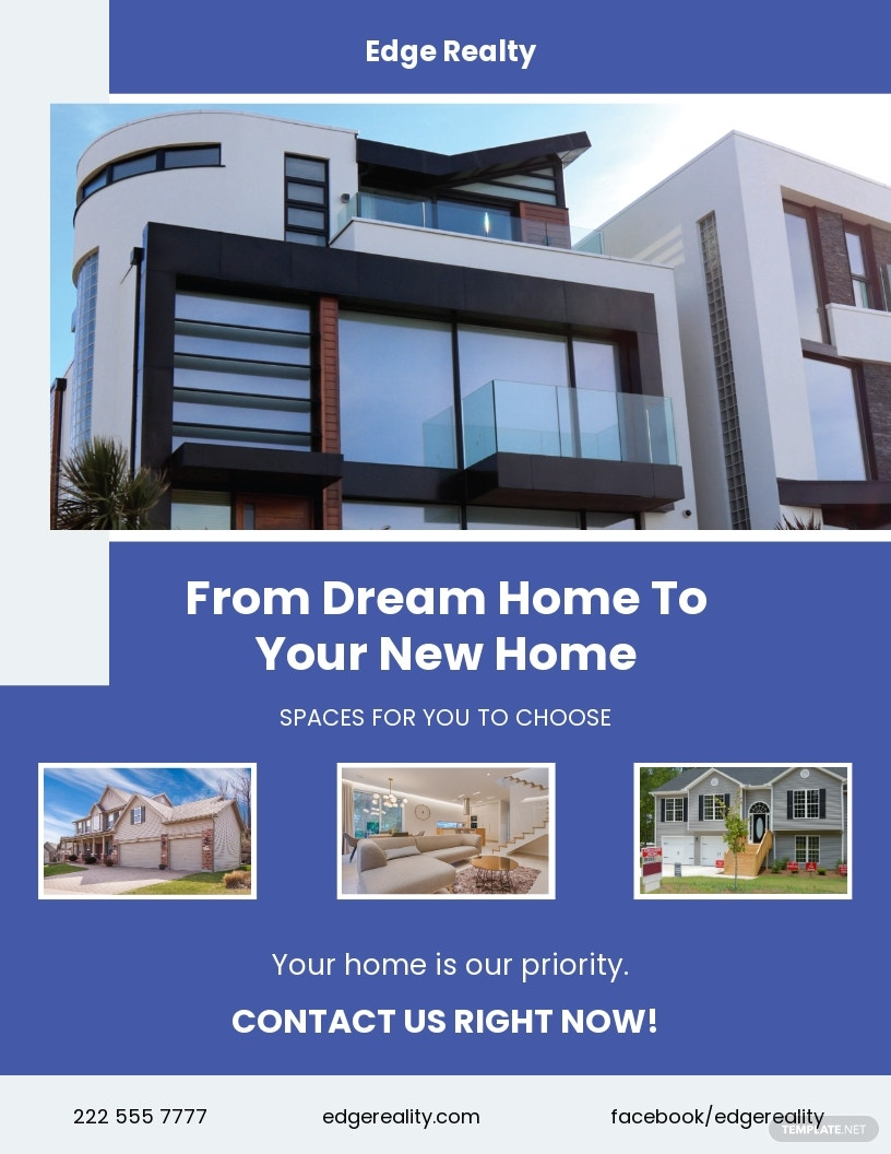 New Home Agent/ Agency Flyer Template