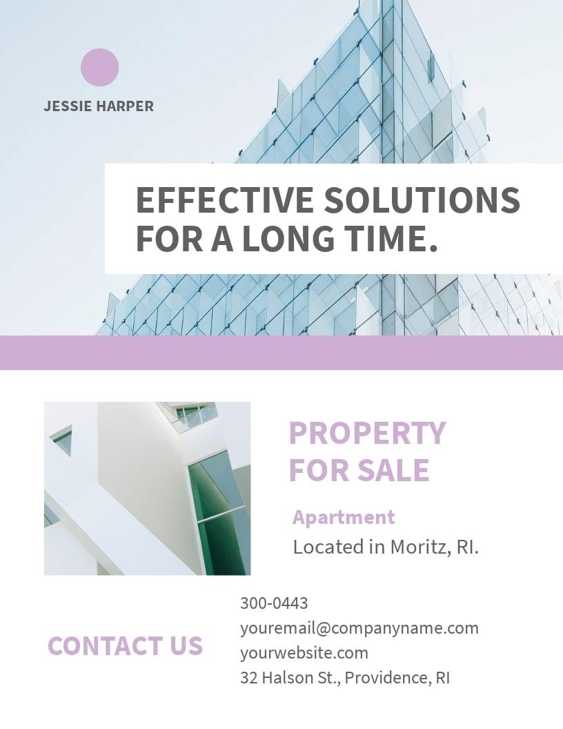 Personal Real Estate Broker Flyer Template