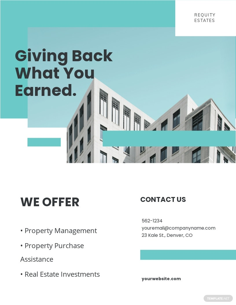 Property Agent/Agency Flyer Template