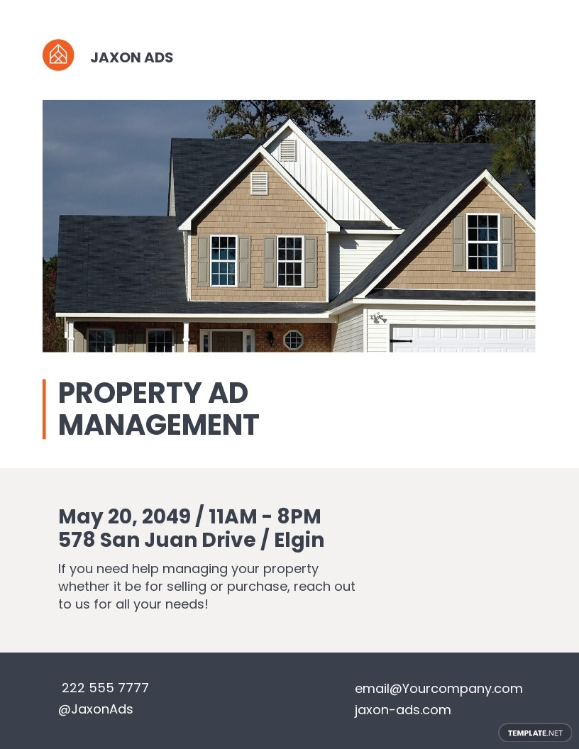 Property Management Advertising Flyer Template
