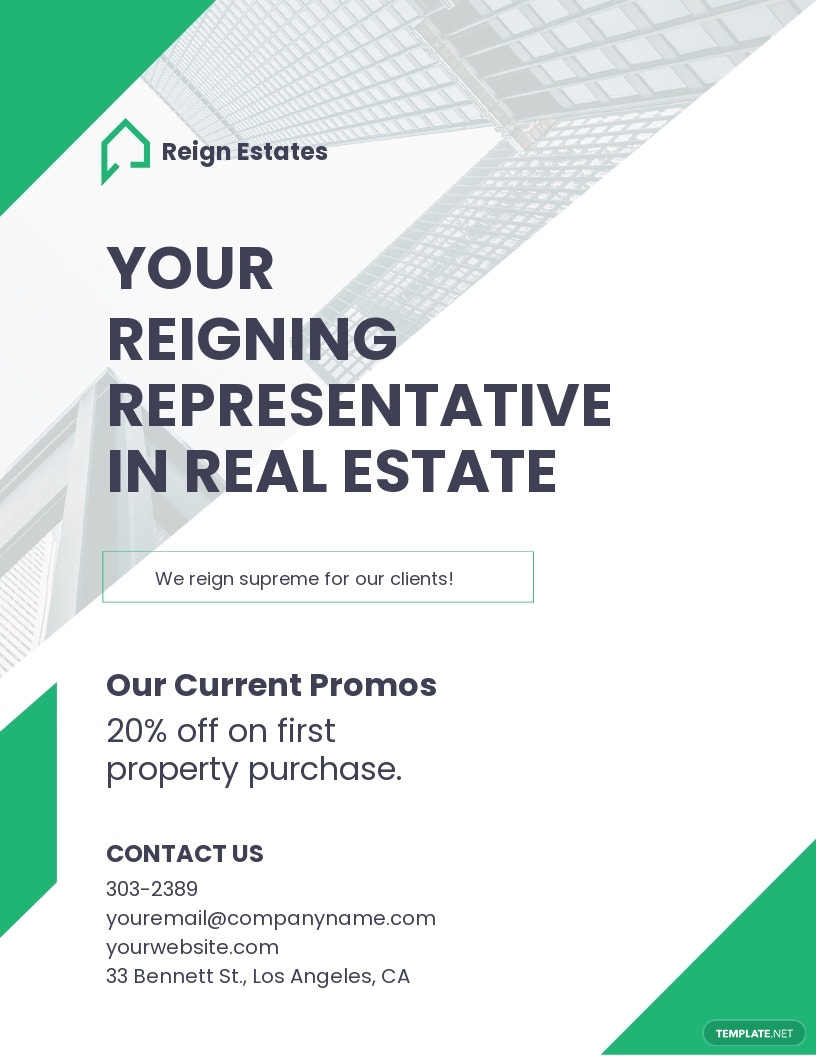 Real Estate Agent /Agency Marketing Flyer Template